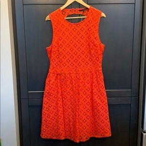 Vero Moda red lace dress size XL
